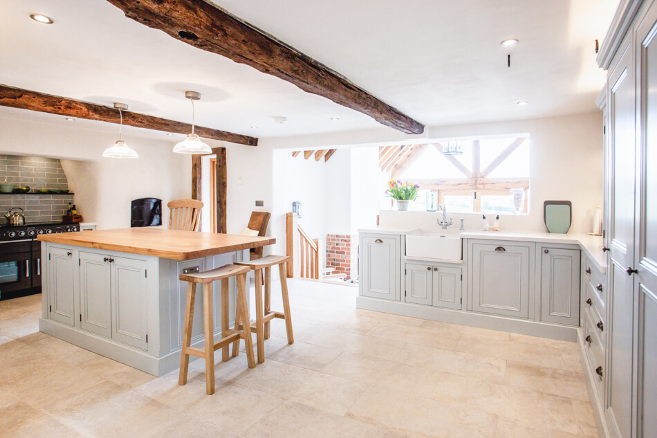 Elegant Bespoke Living, Bespoke Kitchen, Leamington Spa, Joinery, Kitchen, Interior Design, Carpenter, Design, Shaker Kitchen, Kitchen Island, Kitchen barstools