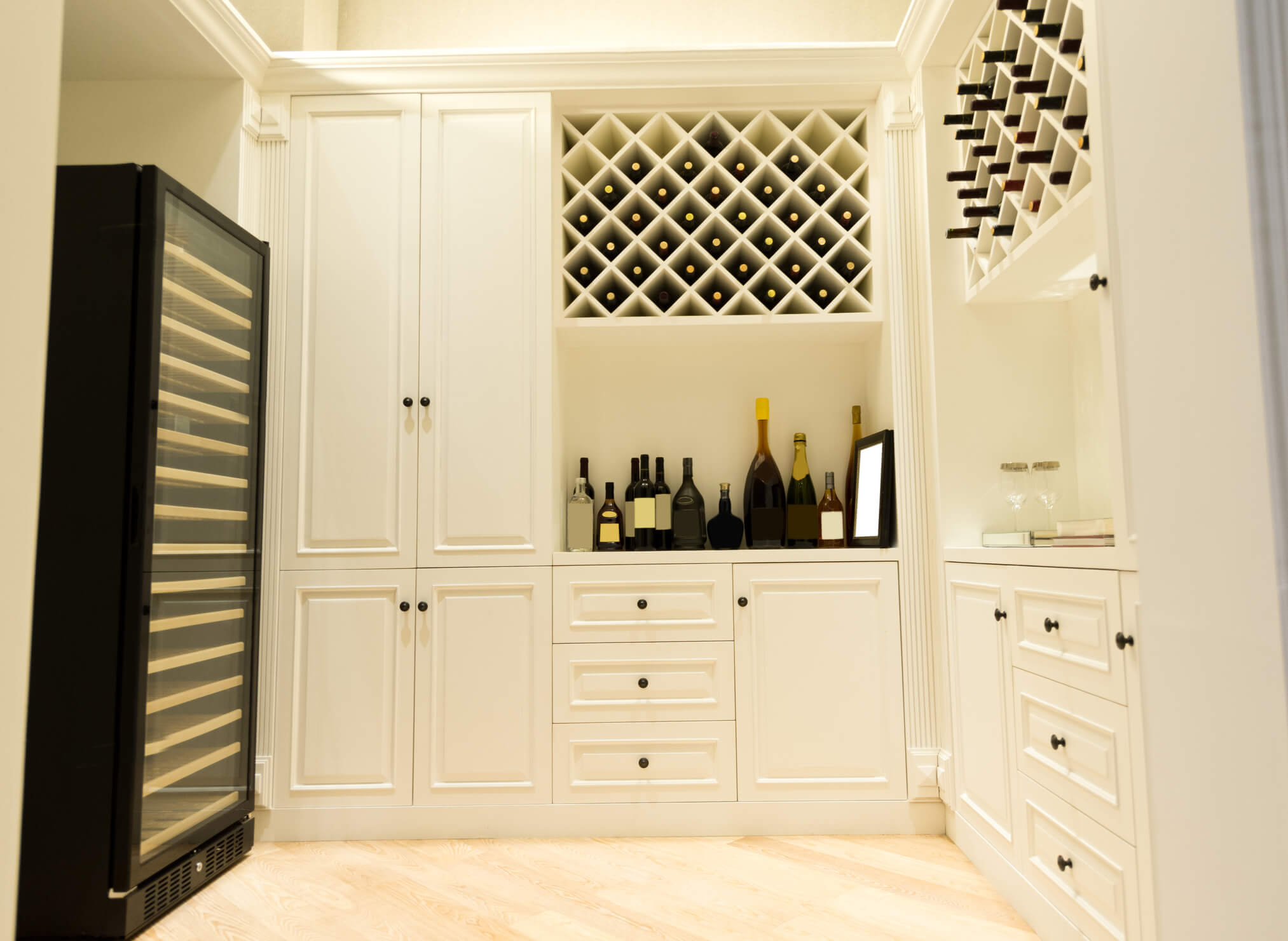 Wine Cellar, Bespoke Fitted Furniture, Bespoke Cupboards, Elegant Bespoke Living